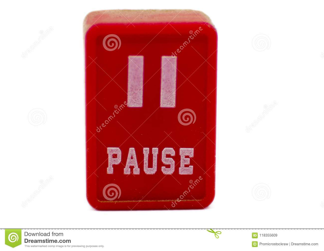 Pause Symbol For Music Stock Image Image Of Music Next 118355609
