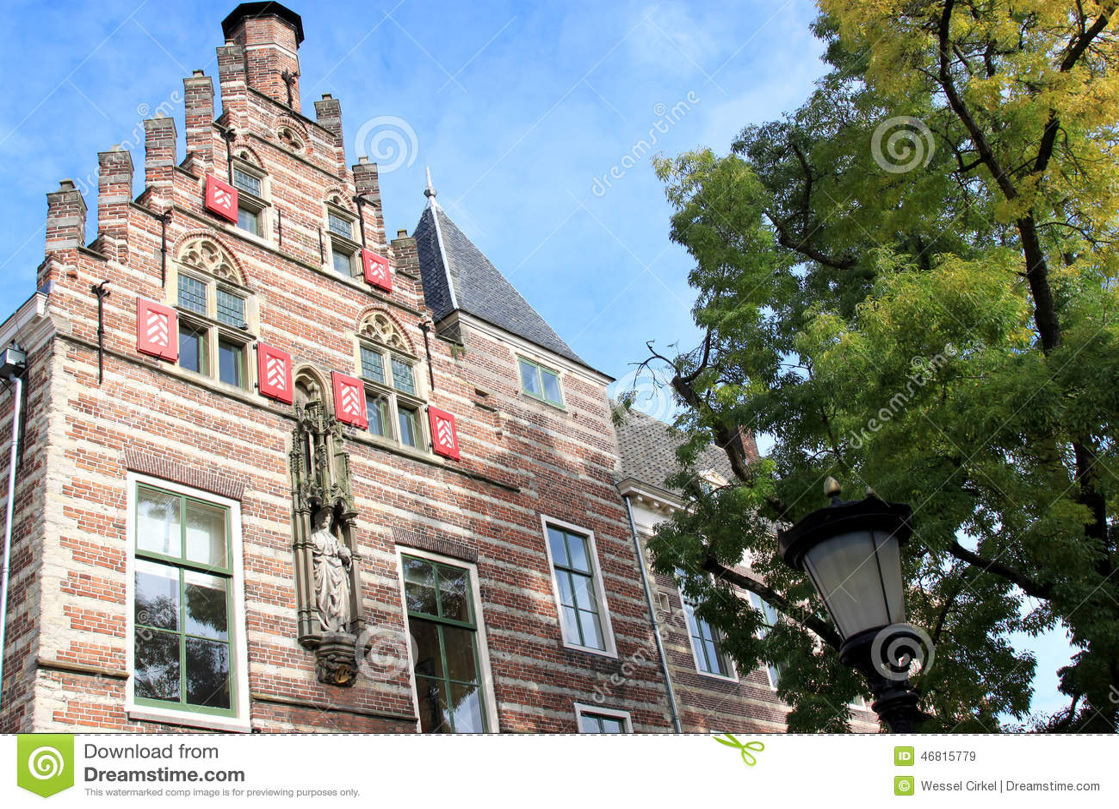 Pauselijk huis in utrecht nederland stock afbeelding for Huis utrecht