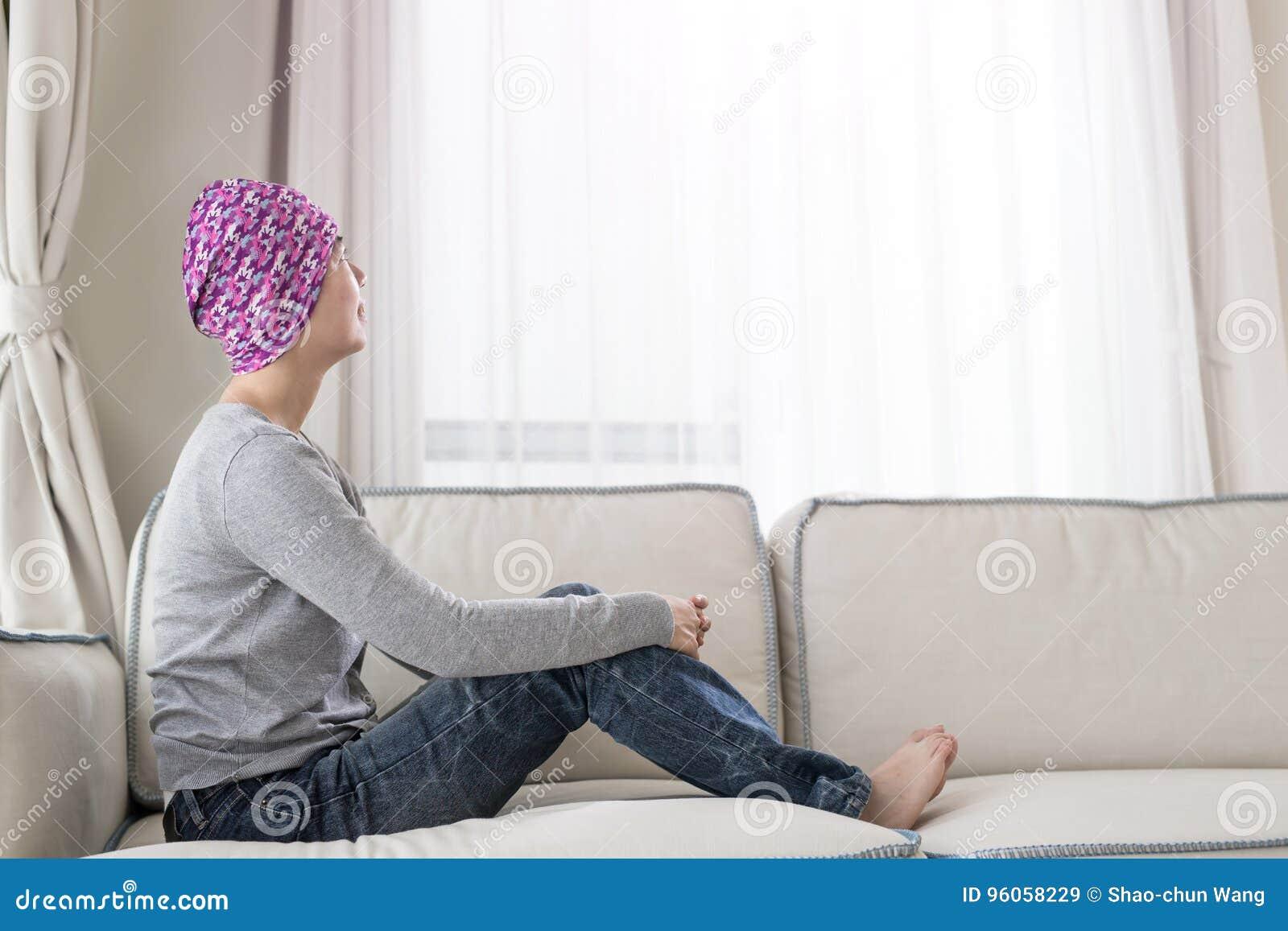 Pauvre femme de cancer