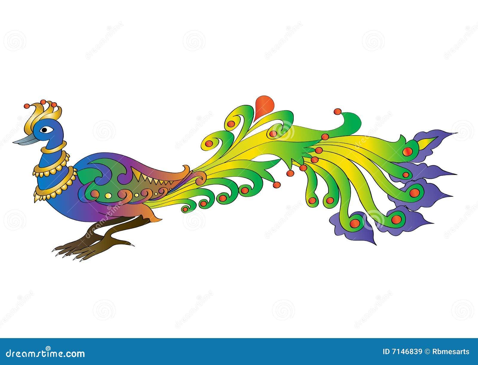 Pavao Ilustracao Do Vetor Ilustracao De Flor Decoracao 7146839