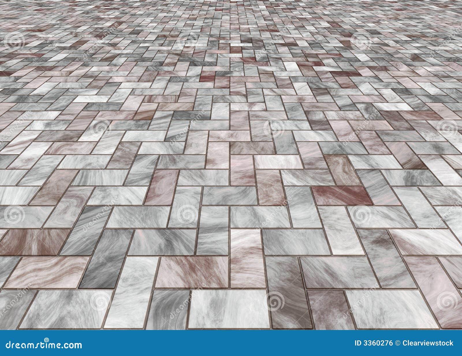 Paved Marble Floor Tiles Stock Illustration Illustration