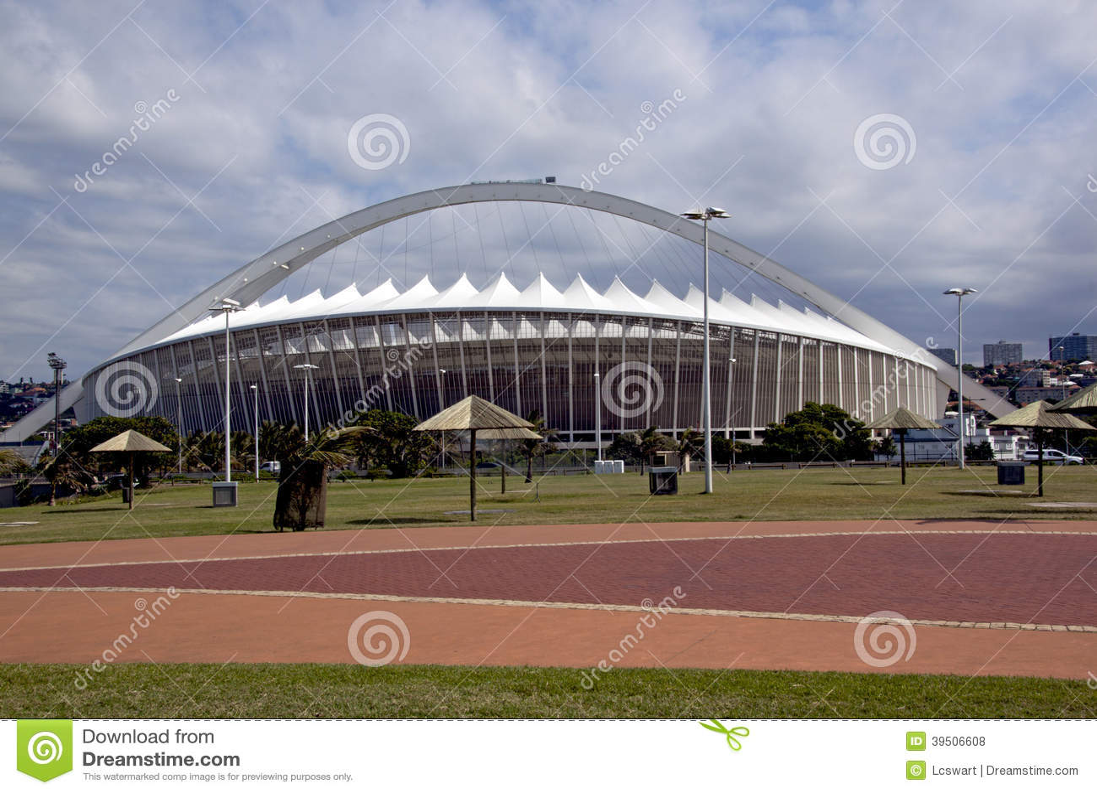 Paved Promenade and Moses Mabhida Football Stadium