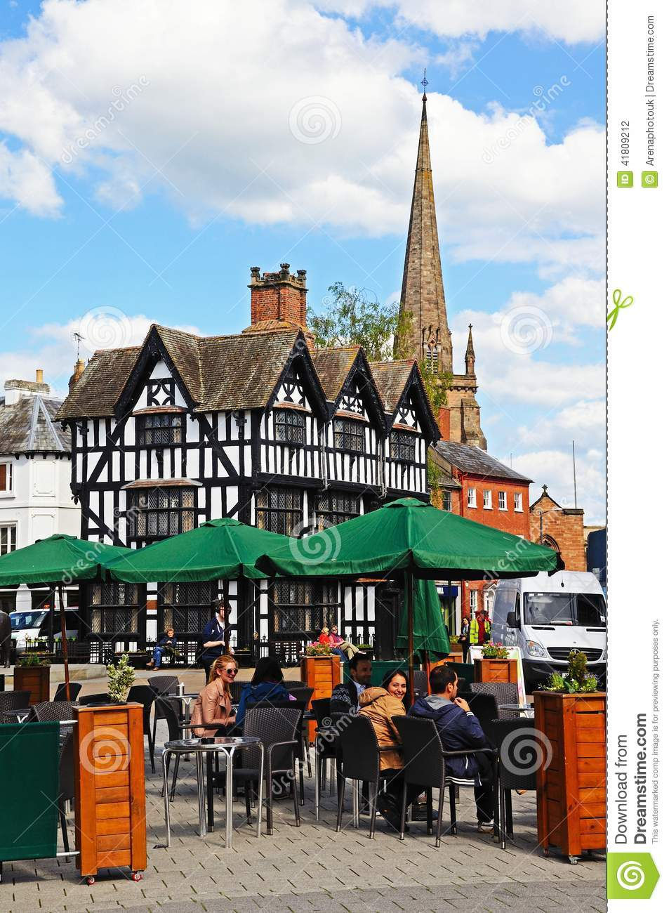 Pavement Cafe Royalty Free Stock Photography