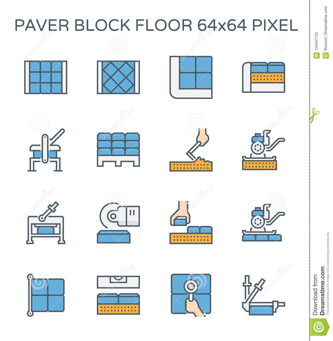 Paver block icon stock vector  Illustration of building - 124447131