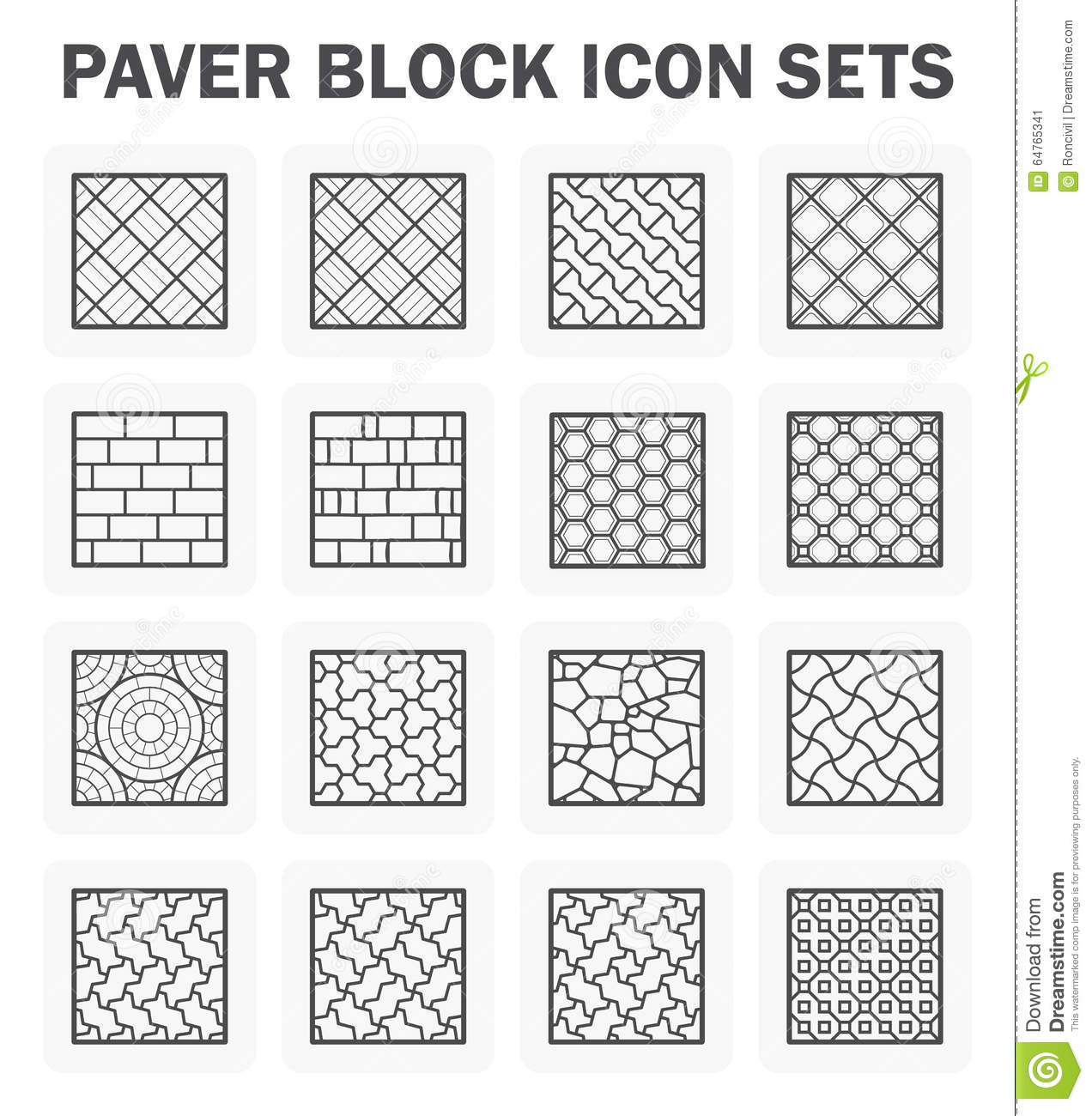 Paver Block Icon Cartoon Vector