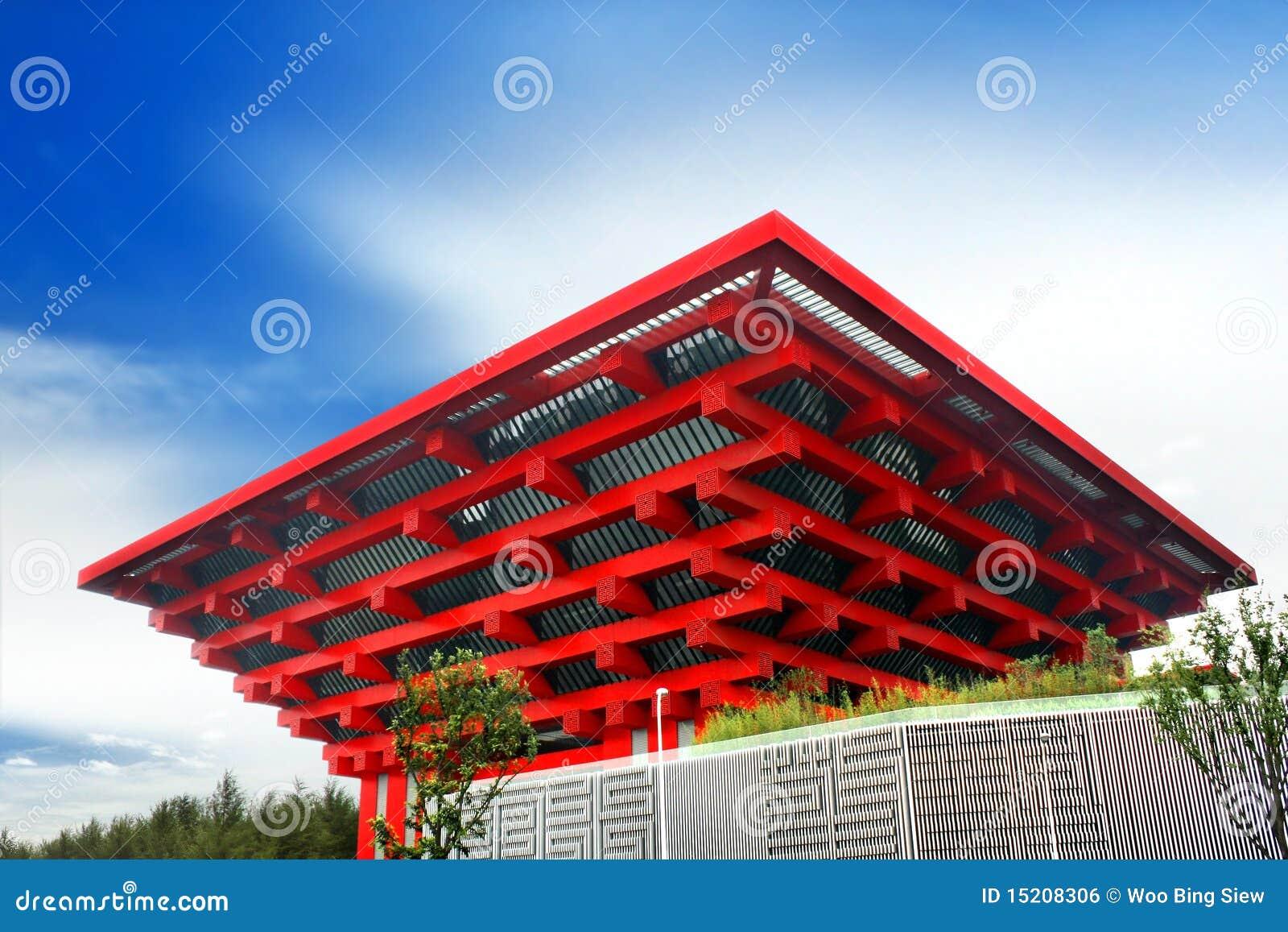 Pavilhão de China da expo do mundo de Shanghai