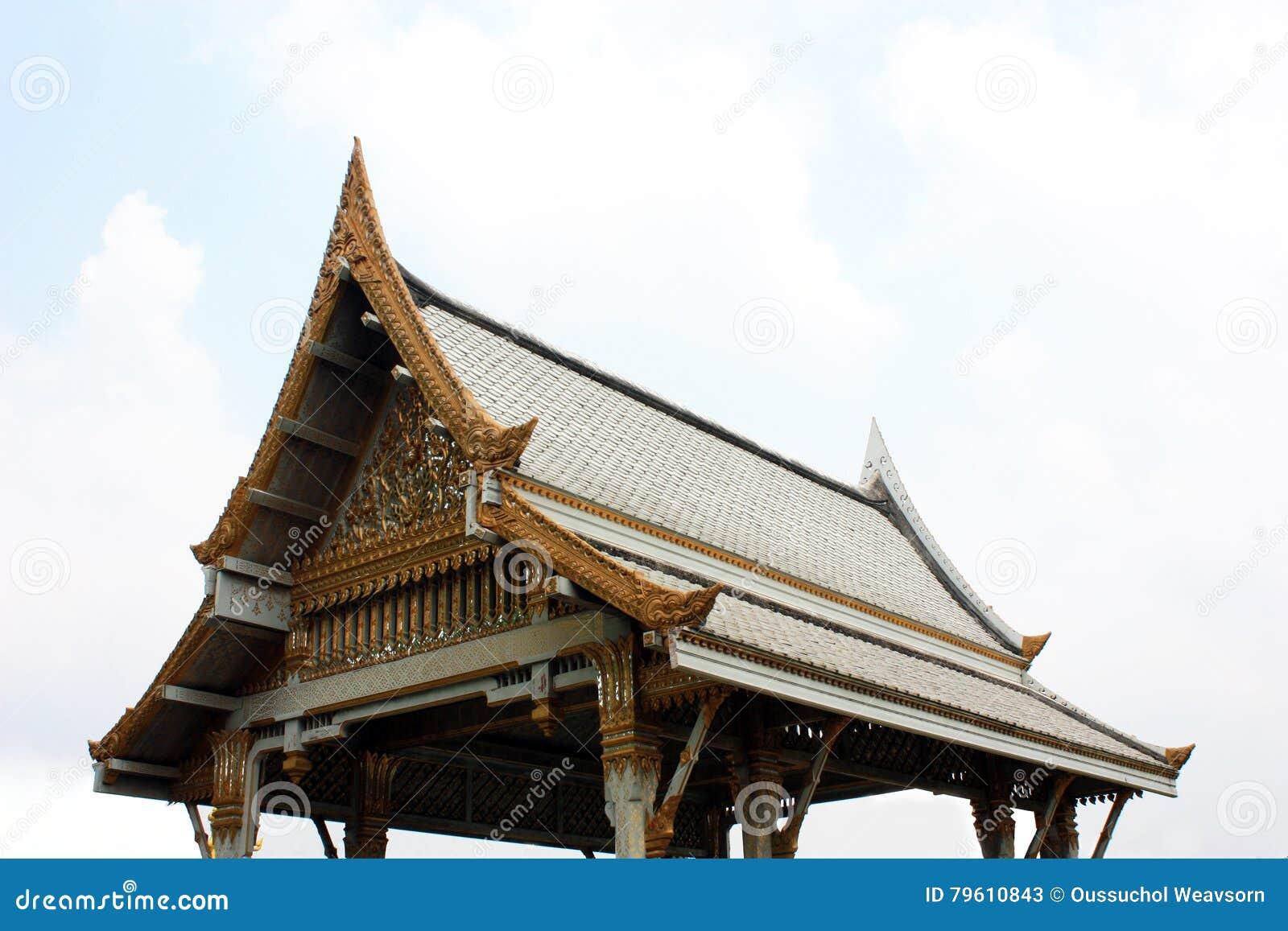 Pavilhão tailandês, Wat Sothornwararamworaviharn, Chachoengsao Tailândia