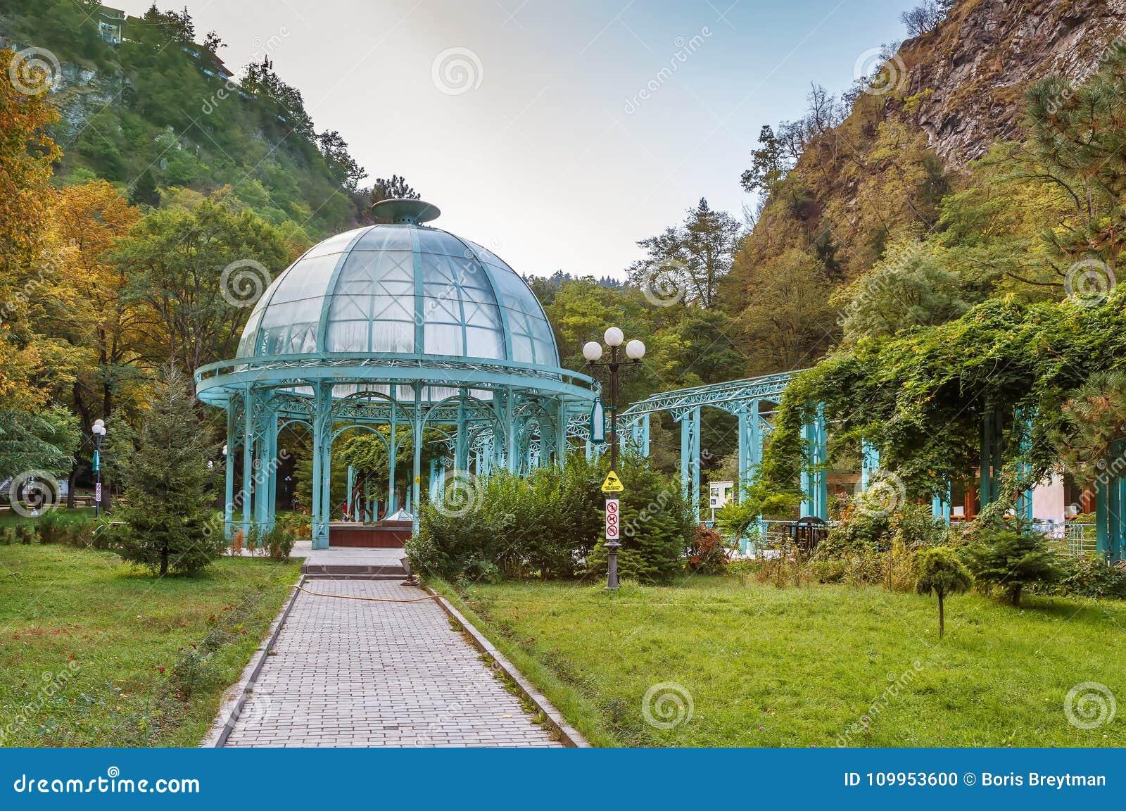 Pavilion in Borjomi central par, Georgia