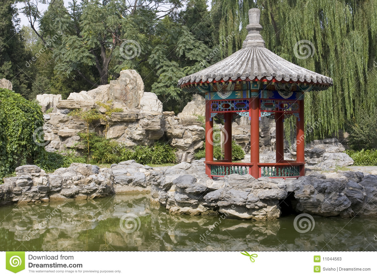 Pavilion in a Chinese park