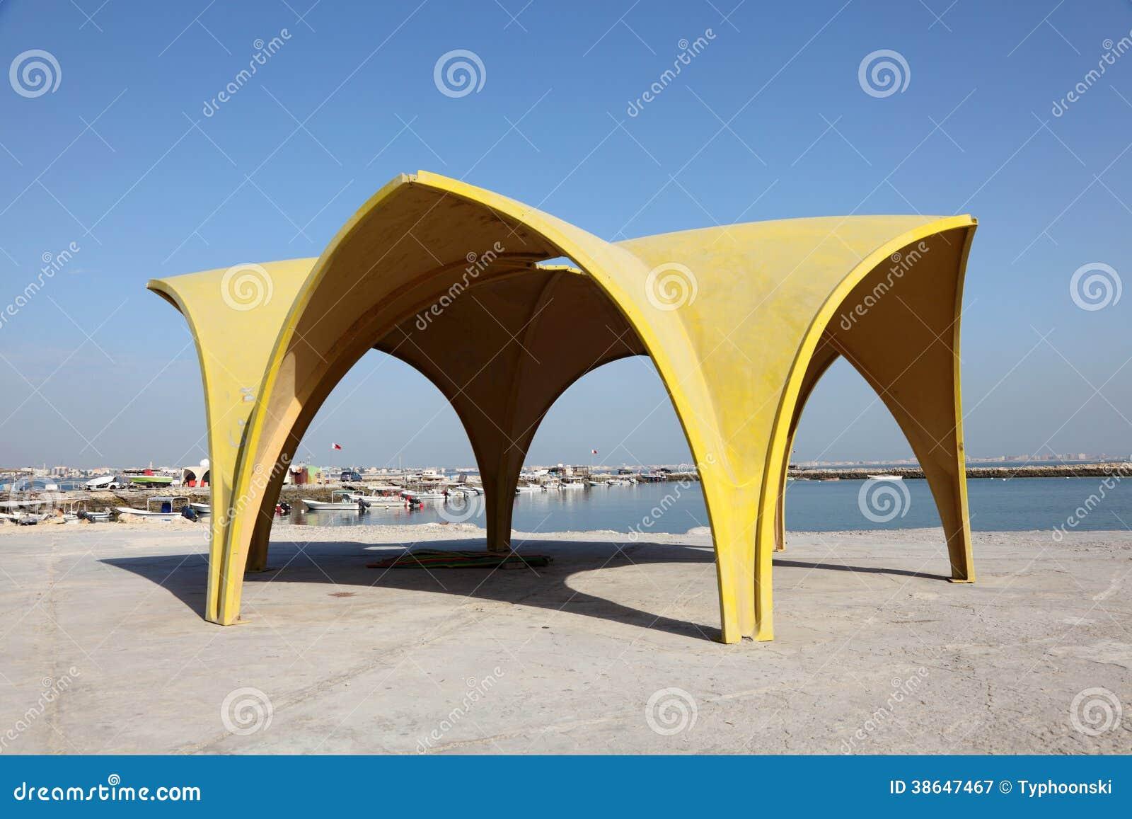 Pavillon am corniche von Manama, Bahrain