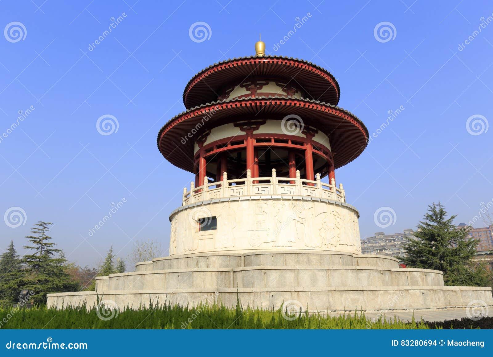 Pavillon Rond De Style Chinois De Jardin De Furong De Datang Photo ...