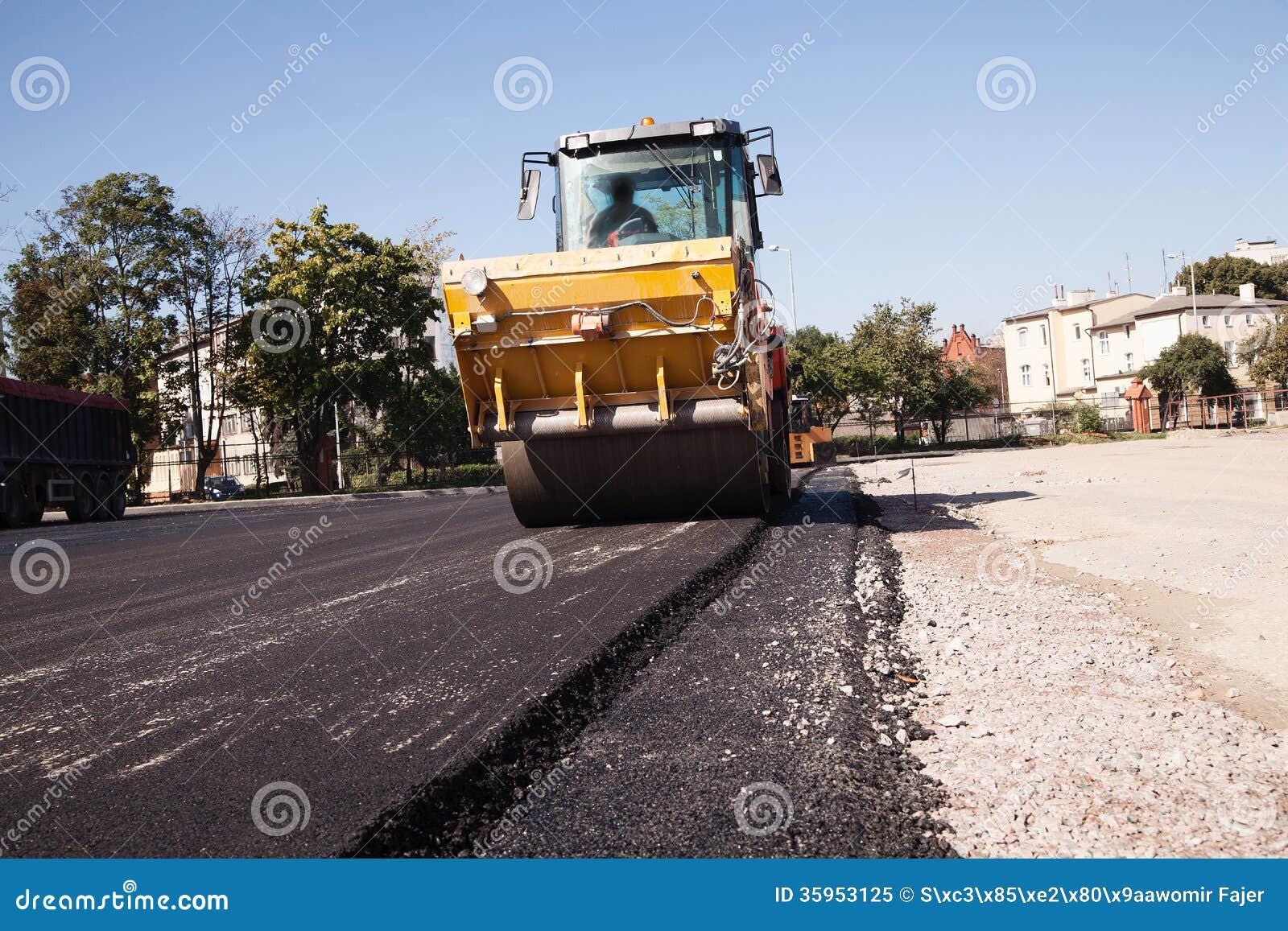 Pavimentación del asfalto