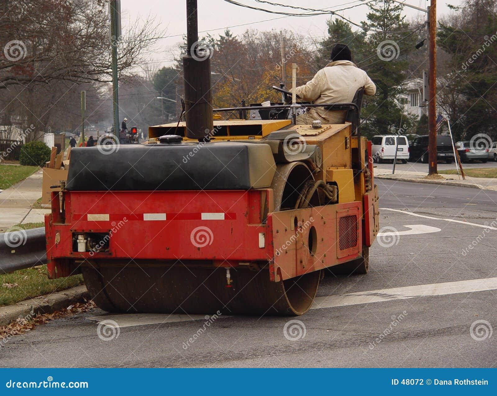 Pavimentadora del asfalto