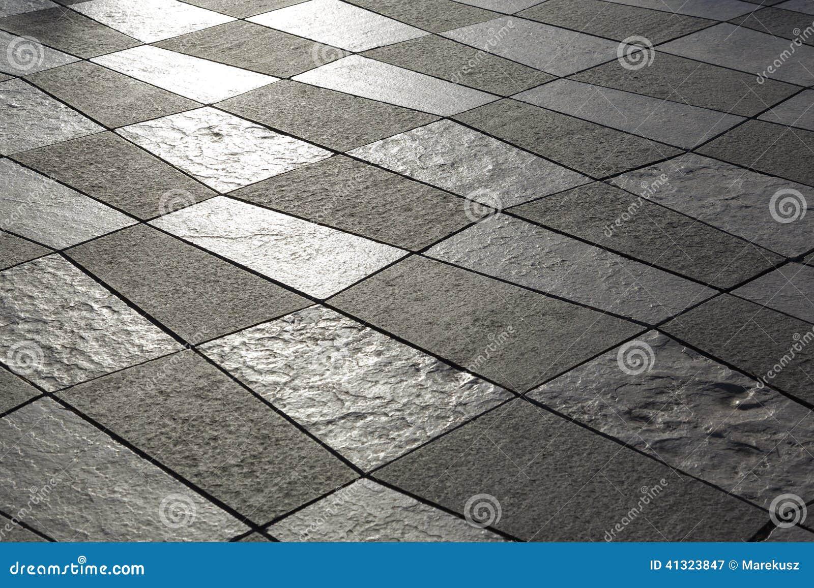 Pavimentazione Di Pietra Bianca E Nera Fotografia Stock - Immagine ...