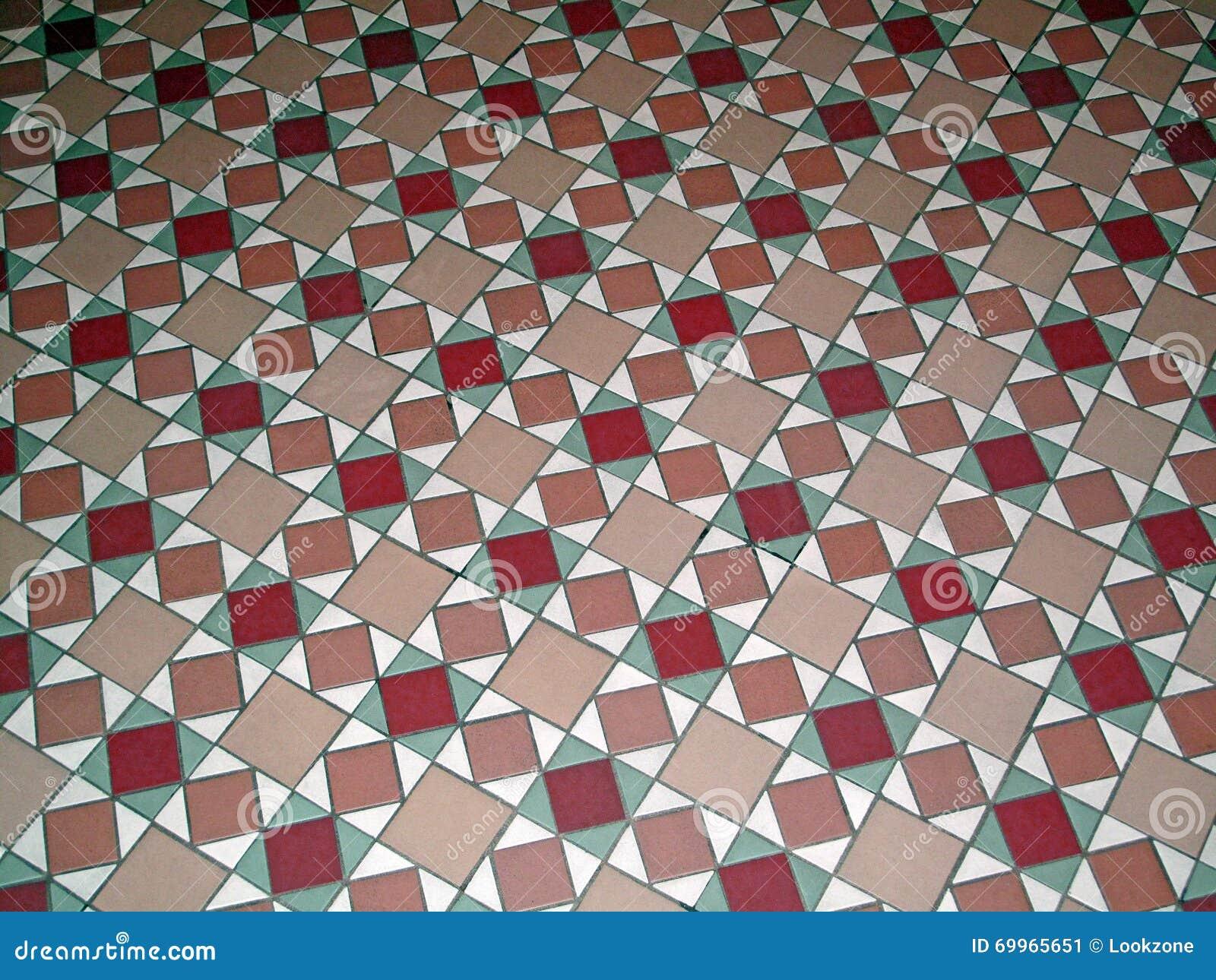 Pavimento antico del modello della piastrella di ceramica immagine