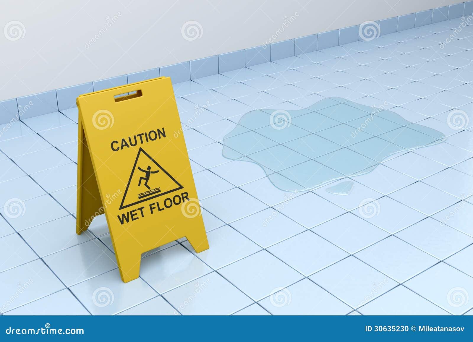 pavimento bagnato di cautela