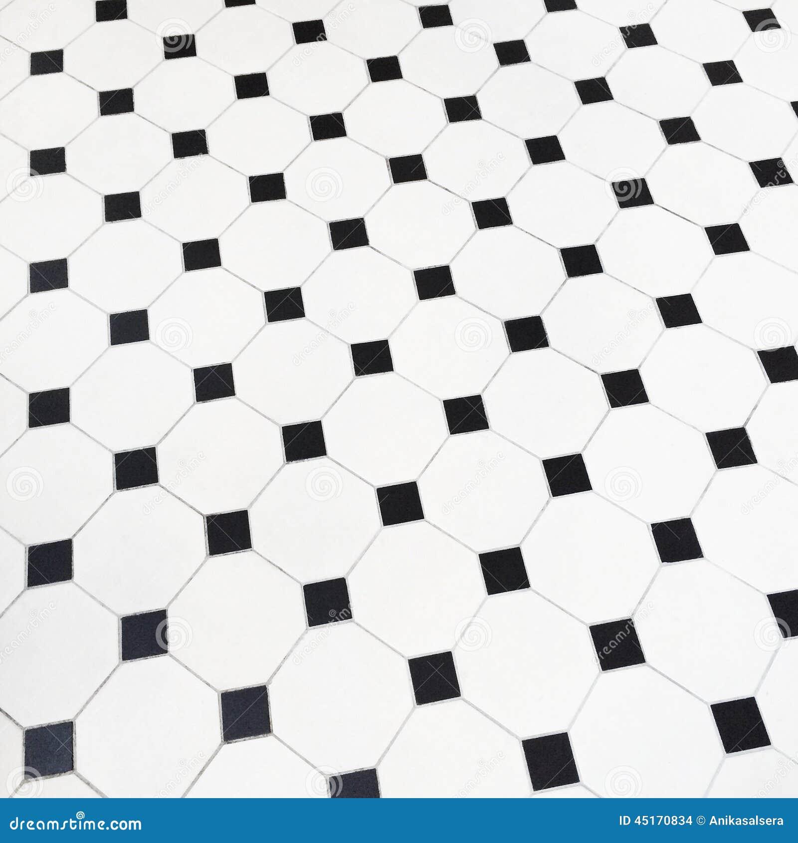 Pavimento in bianco e nero delle piastrelle di ceramica for Pavimento bianco e nero