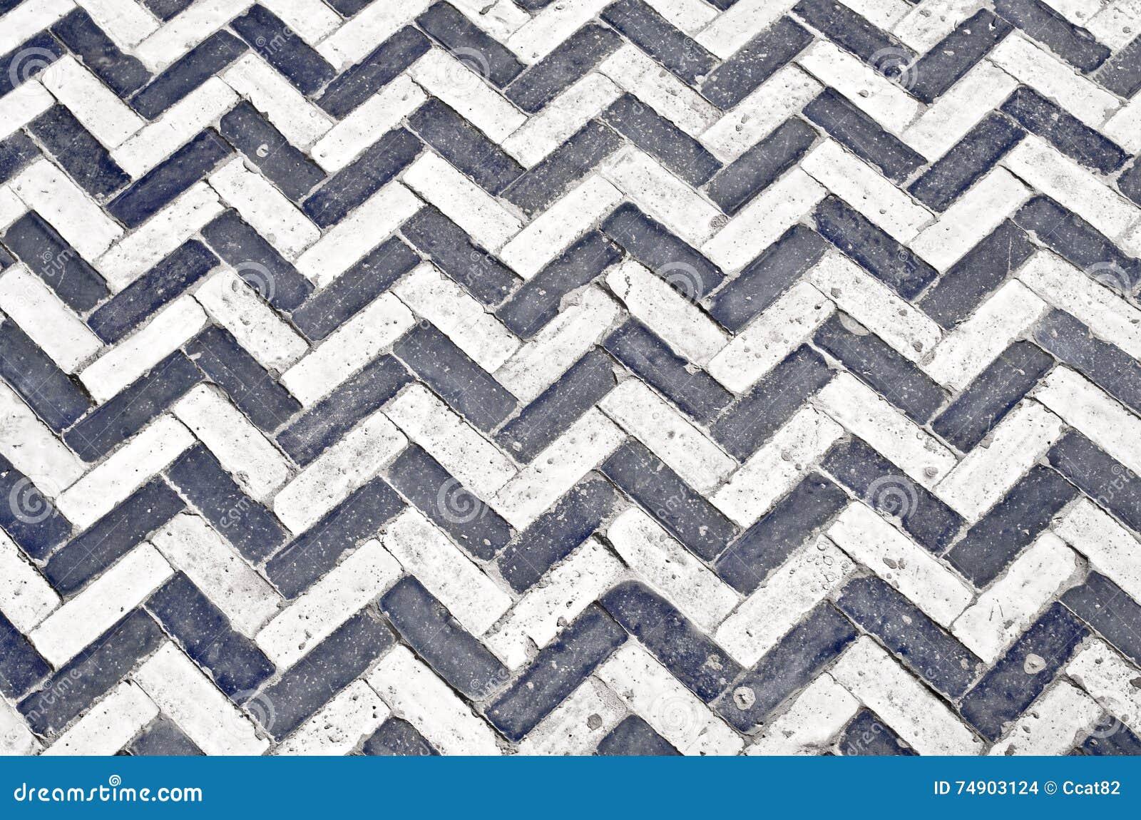 pavimento cermico preto e branco foto de stock