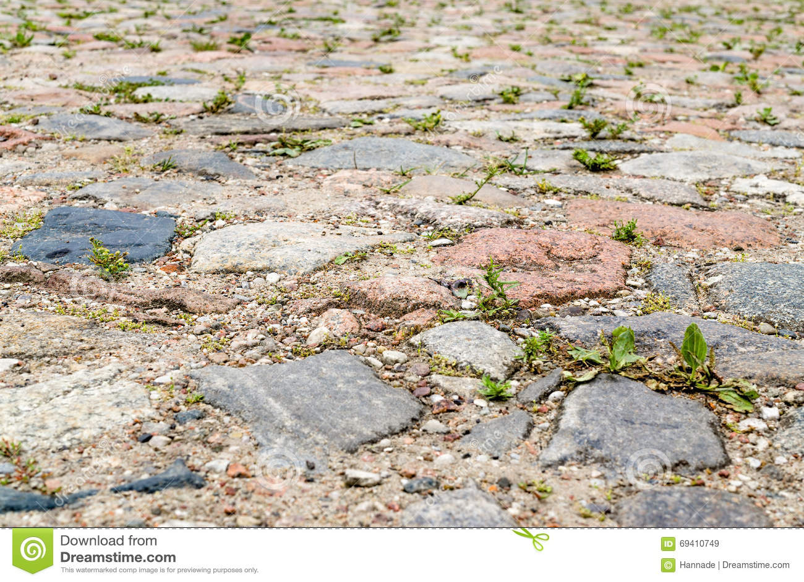 Pavimento cobbled viejo