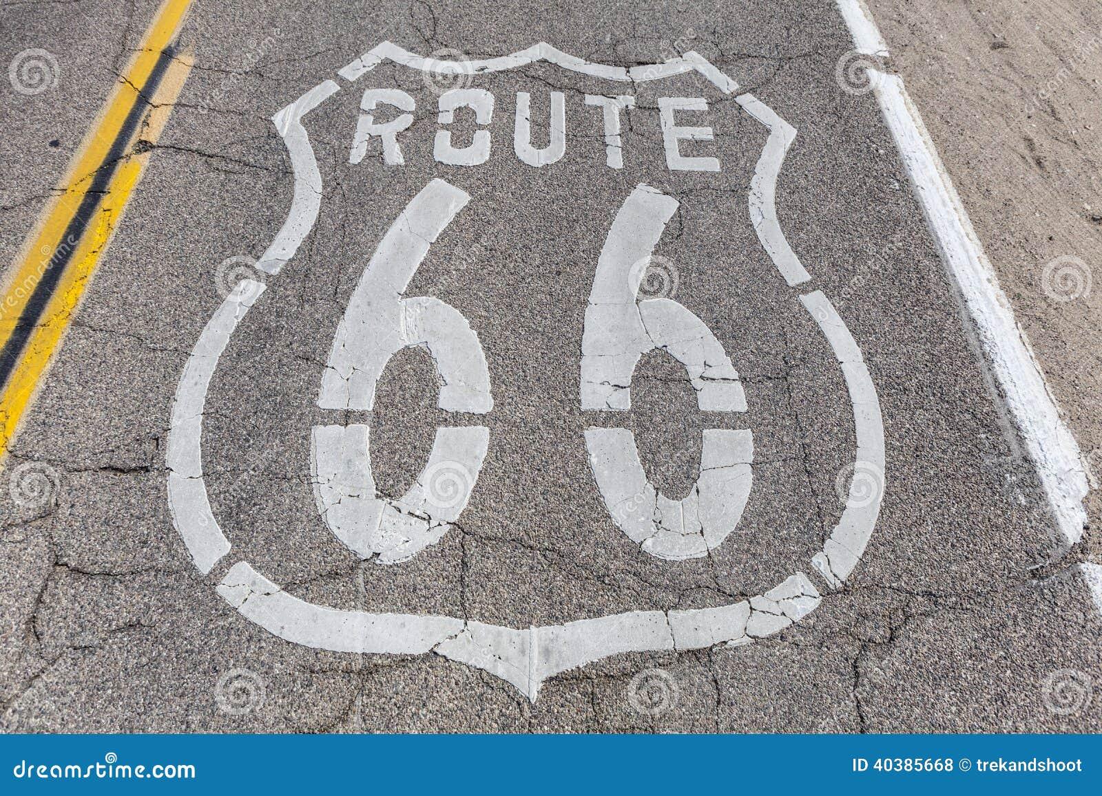 Pavimento de Route 66