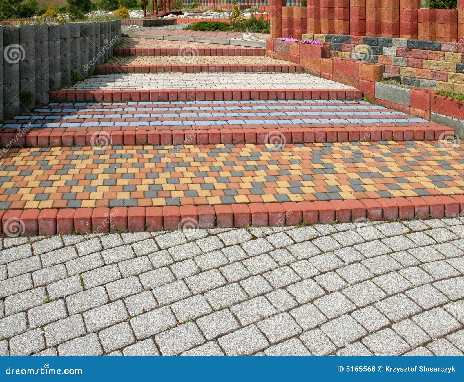 Pavimento del adoqu n foto de archivo imagen de cobble 5165568 - Jardines con adoquin ...