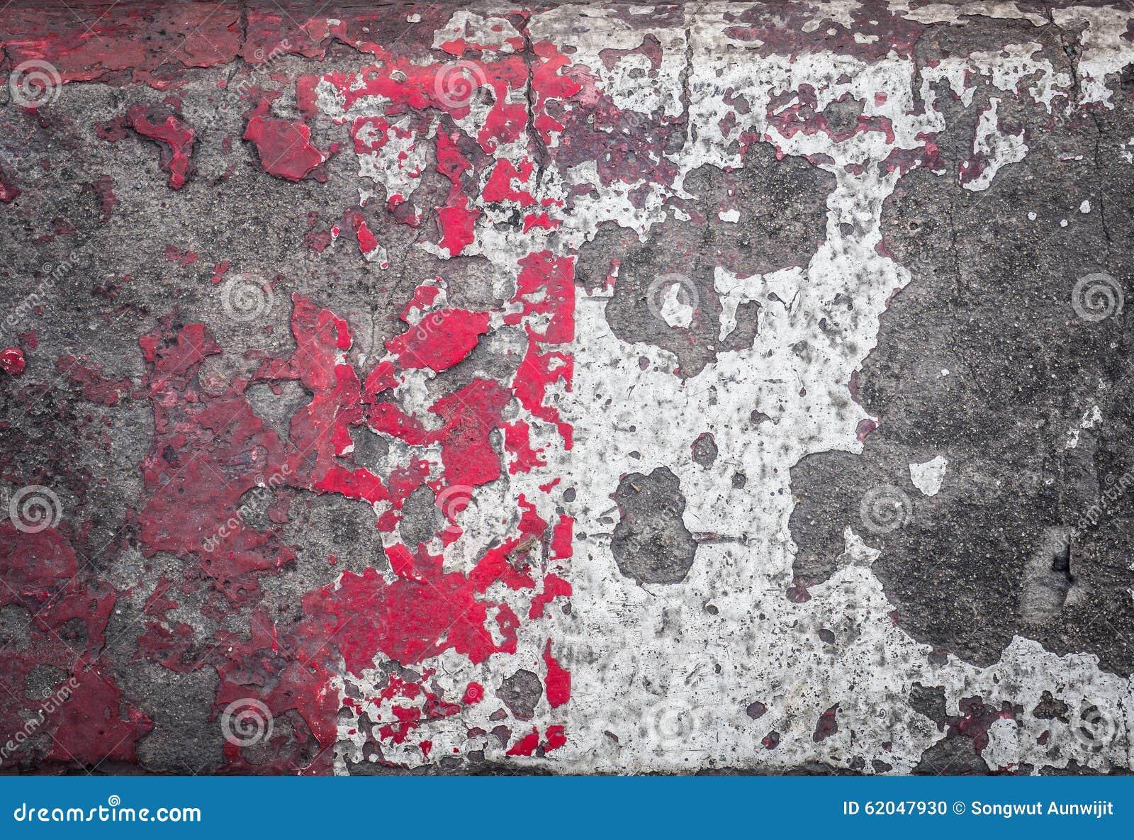 Pavimento Rosso E Bianco : Pavimento del cemento rosso e bianco di lerciume fotografia stock