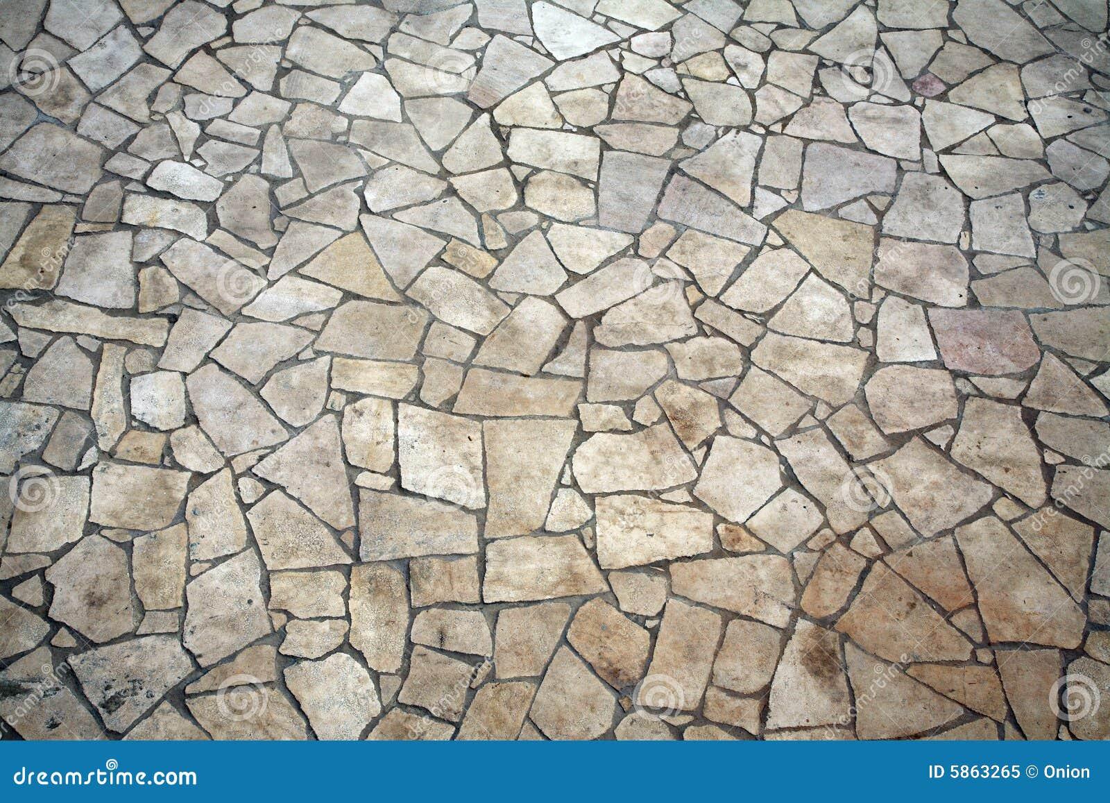 Pietra pavimento disegno : Pavimento Di Pietra Di Forma Irregolare Fotografia Stock Libera da ...