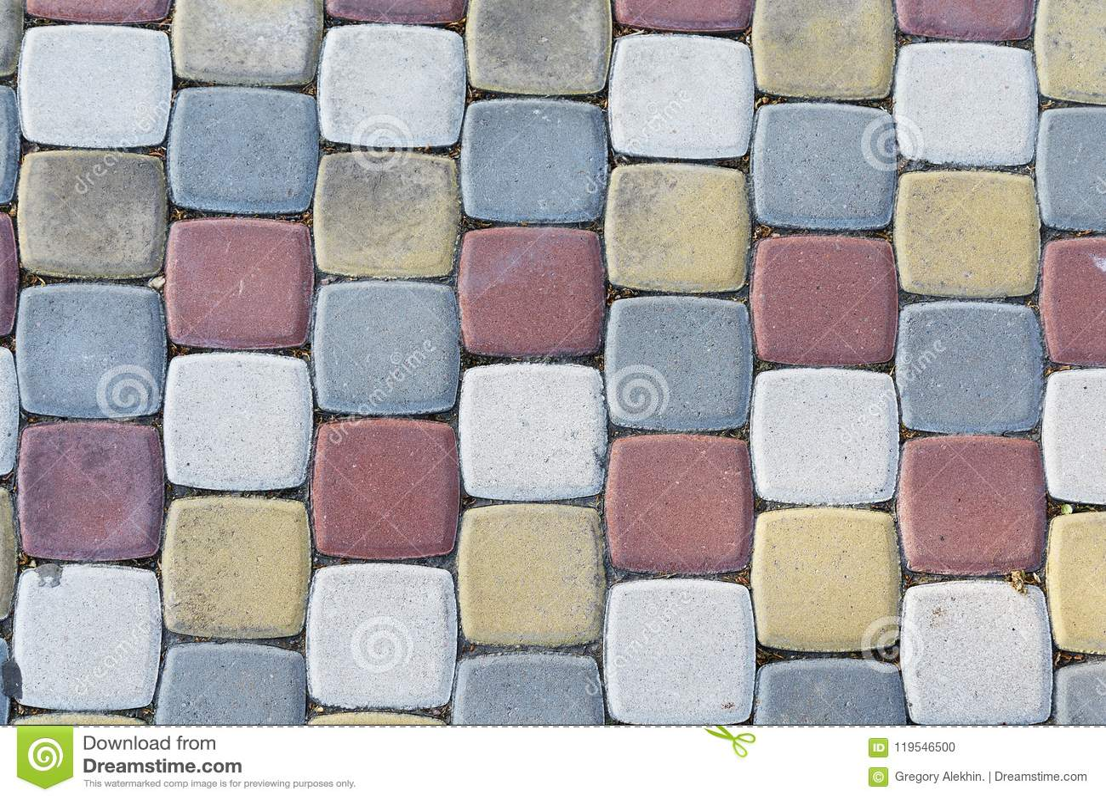 Pavimentos Multi-coloridos sob a forma dos tijolos