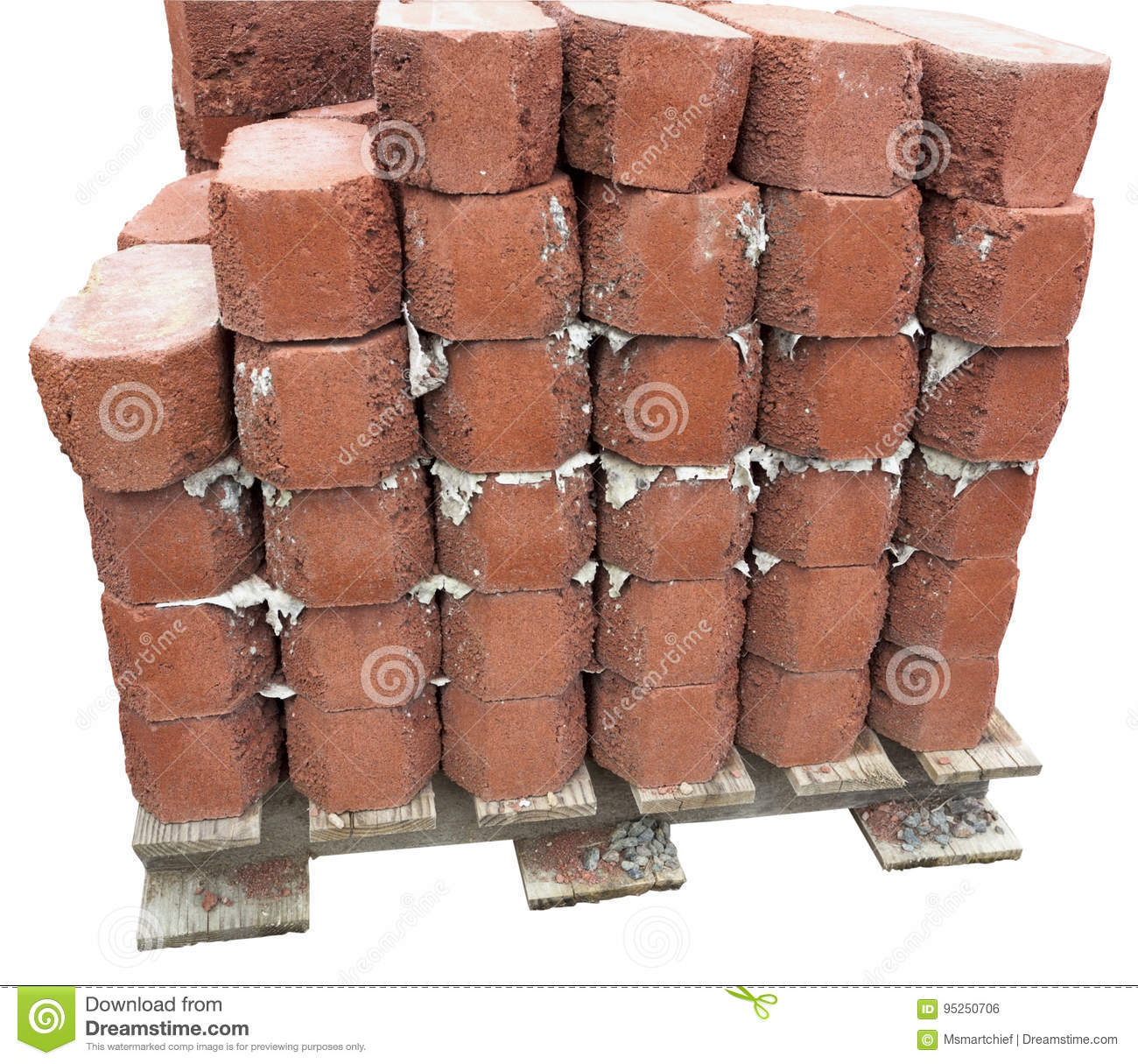Paving Bricks Stacked On Pallet Stock Photo Image Of Pallet Stones 95250706