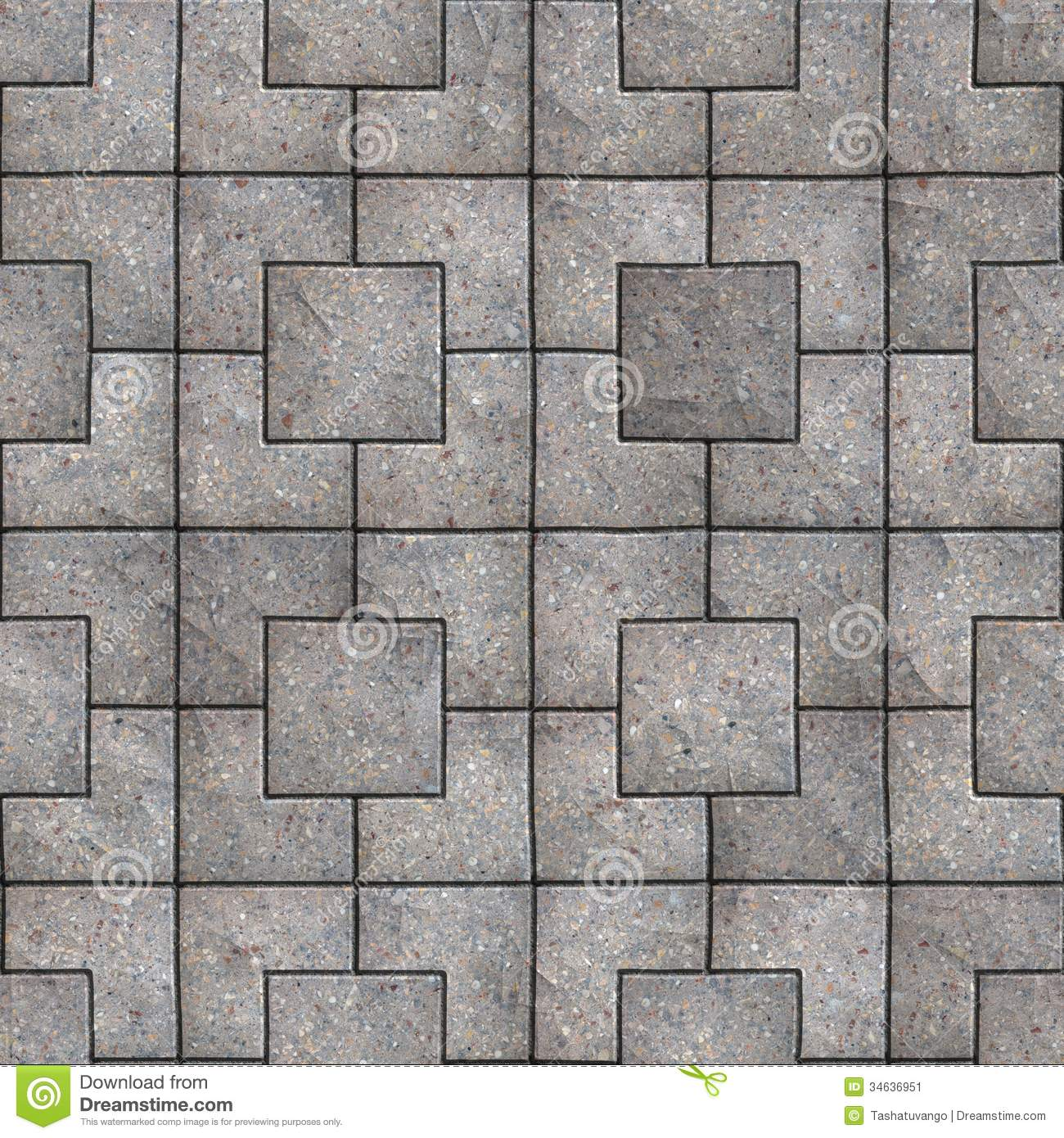 Paving Slabs Seamless Tileable Texture Stock Image