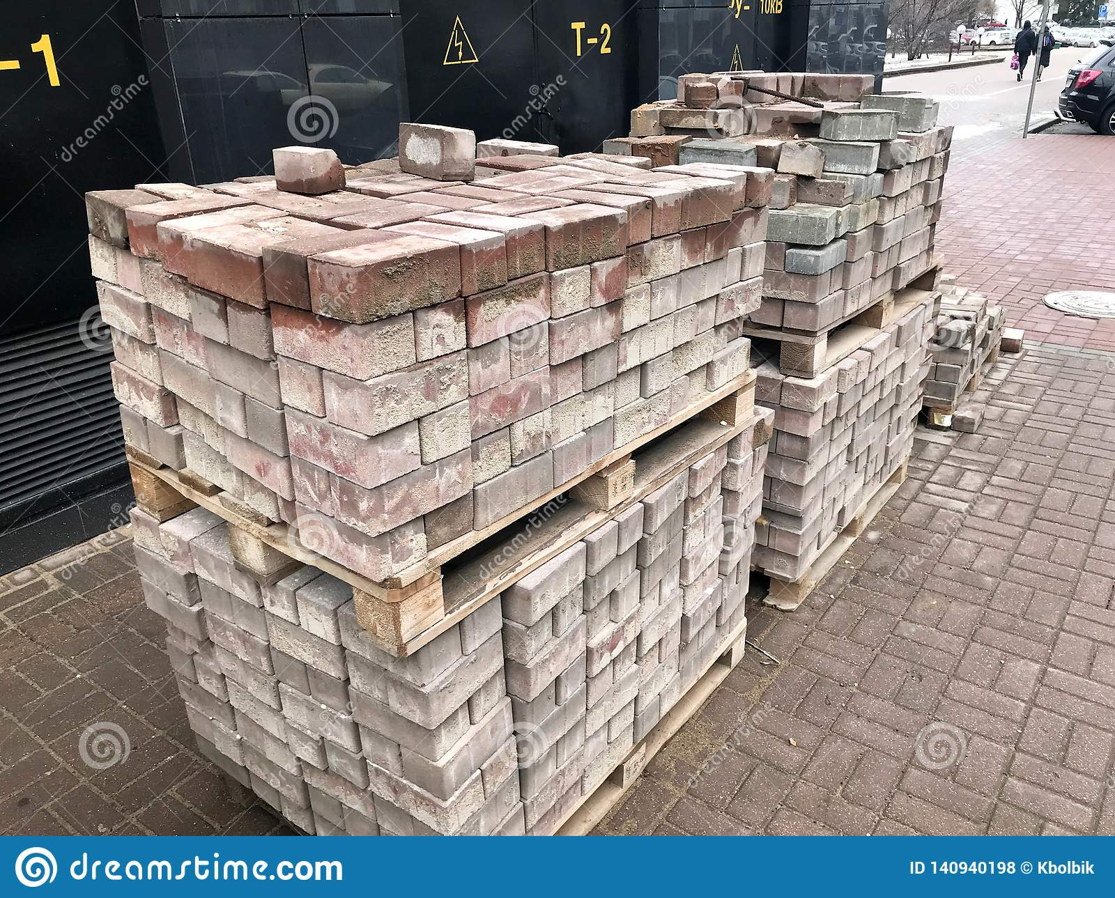 Paving Stone Red Cement Tile For Laying Road Construction Pavement
