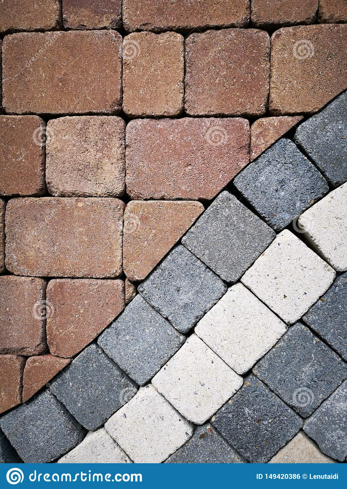 Paving stones - different colours
