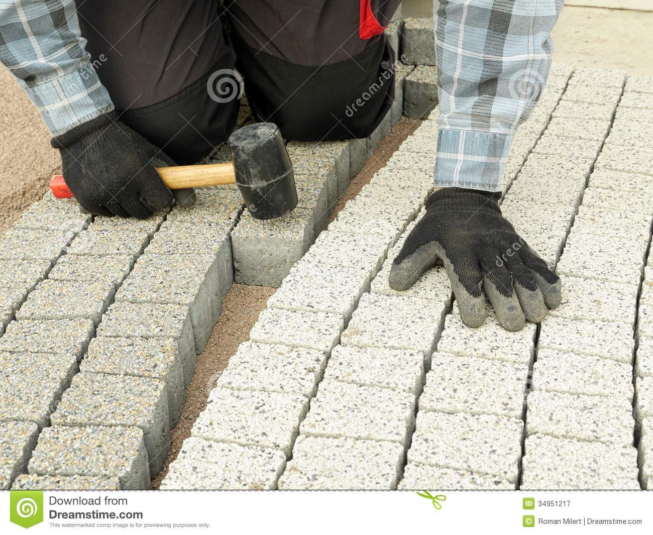 Paving Work Stock Image Image Of Outside Pavement