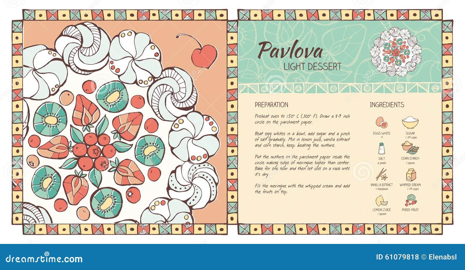 pavlova dessert stock vector illustration of kiwi dessert 61079818
