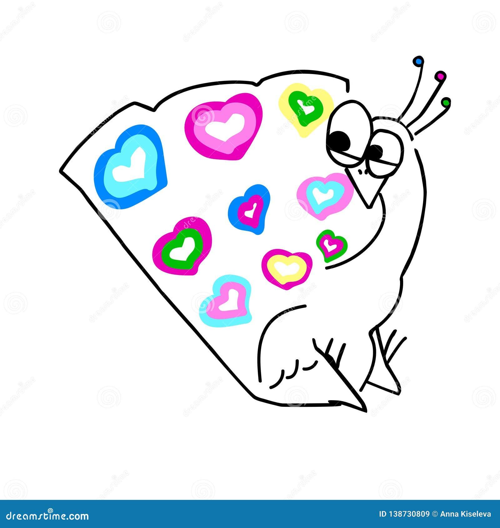 Pavone sorpreso vettore del fumetto con la coda variopinta dell insieme del cuore