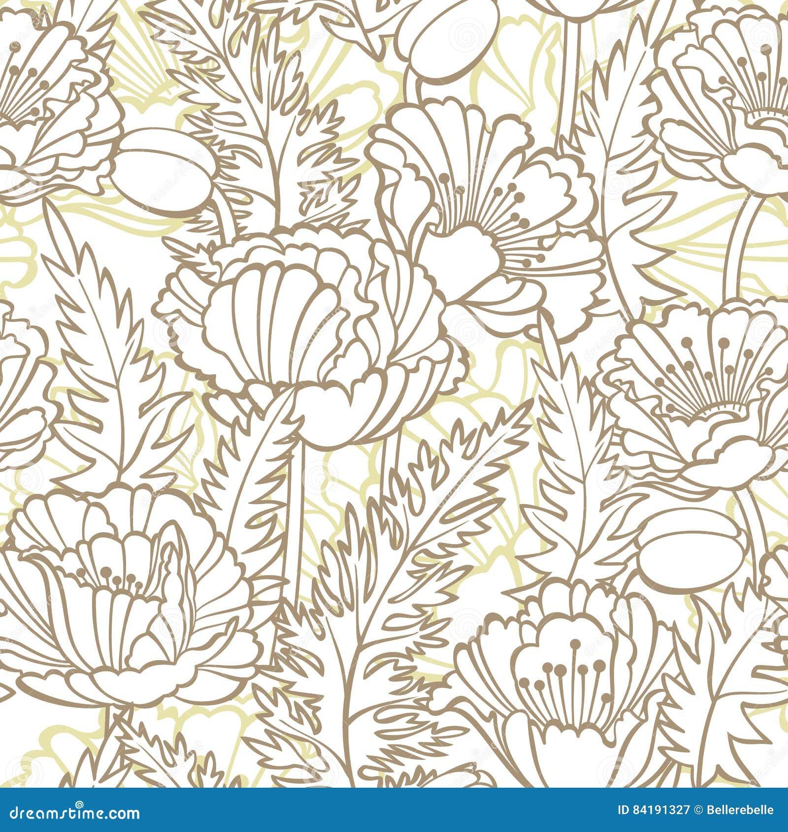Pavots floraux de configuration sans joint