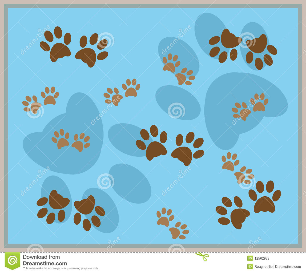 Paw print background stock vector illustration of puppy 12562977 paw print background voltagebd Choice Image