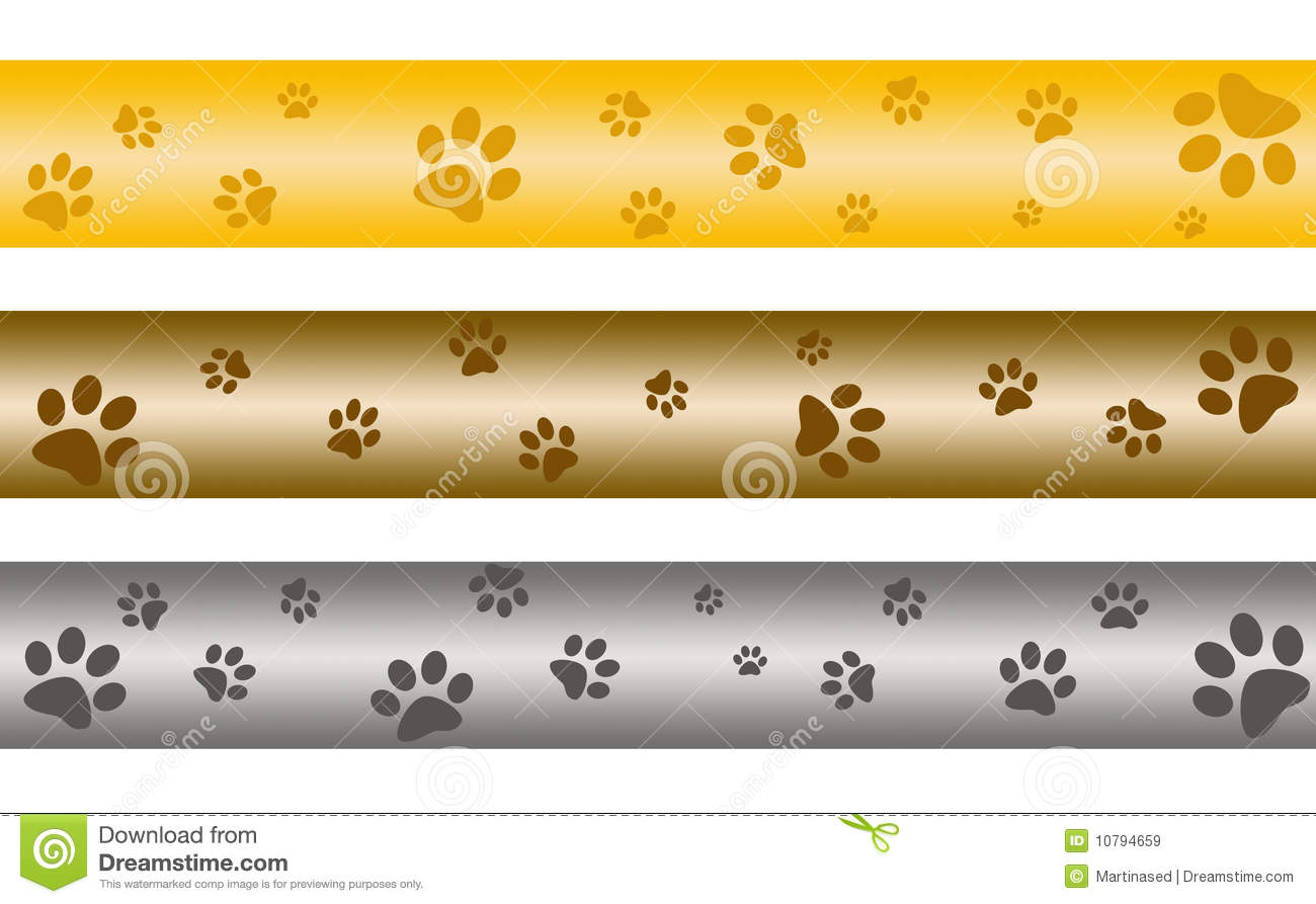 Paw Print Banners Royalty Free Stock Images Image 10794659