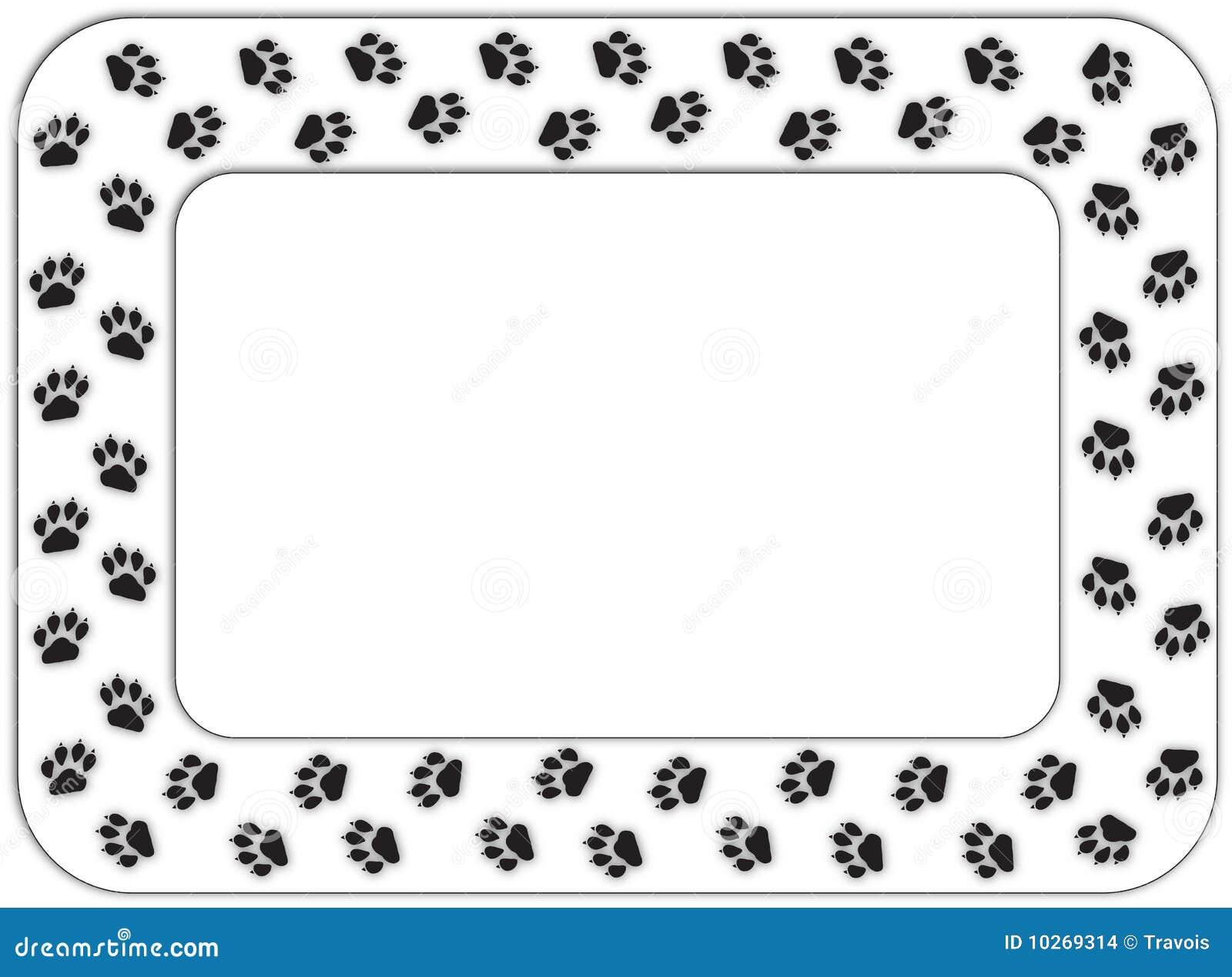Paw print frame stock illustration. Illustration of black - 10269314