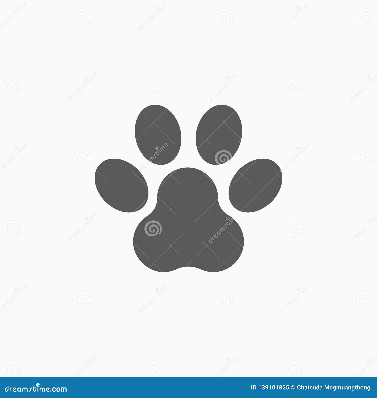 Paw Print Icon, Dog Paw, Pet Stock Vector - Illustration of