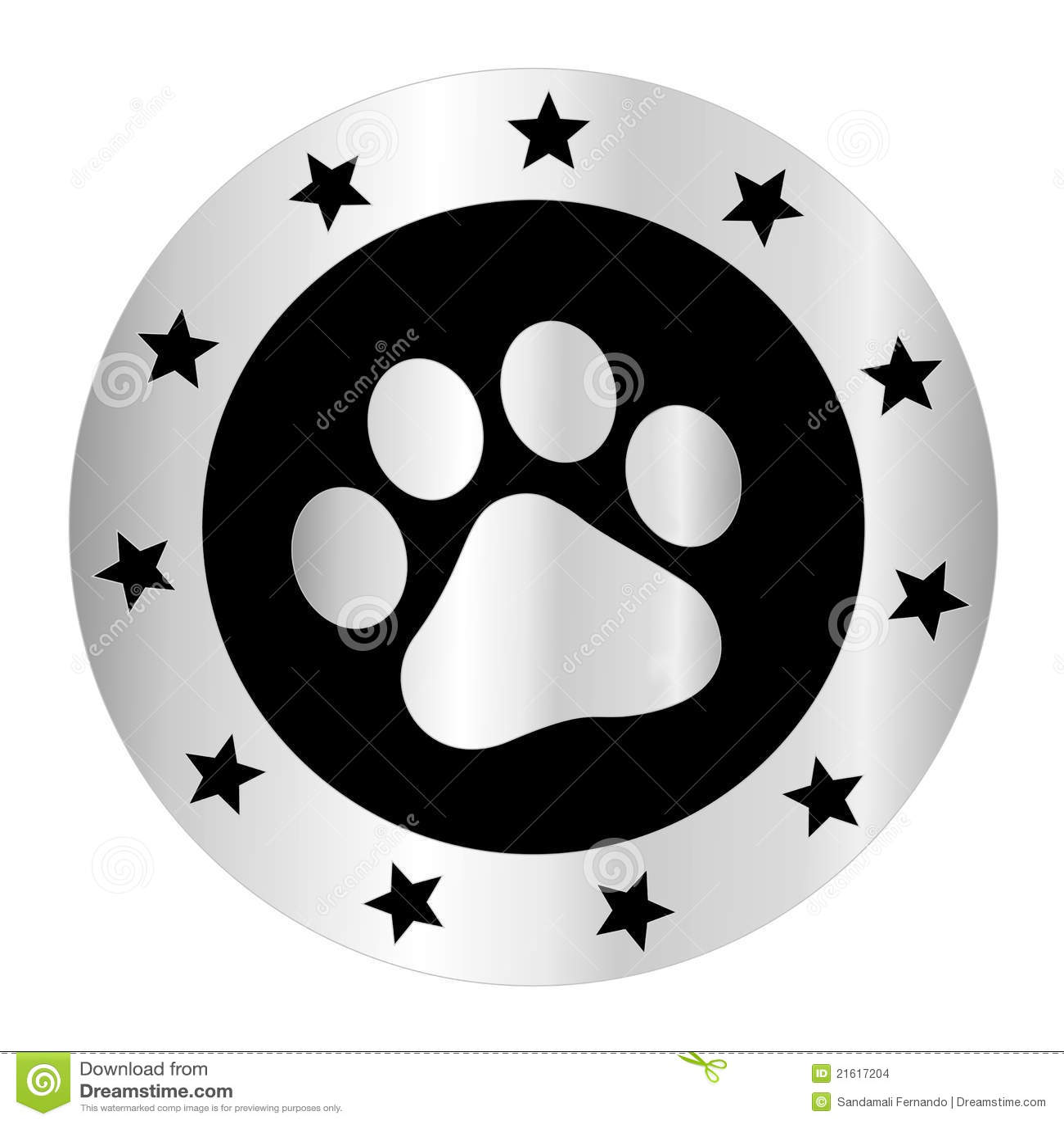 Black Dog Paw Logo Paw print logo