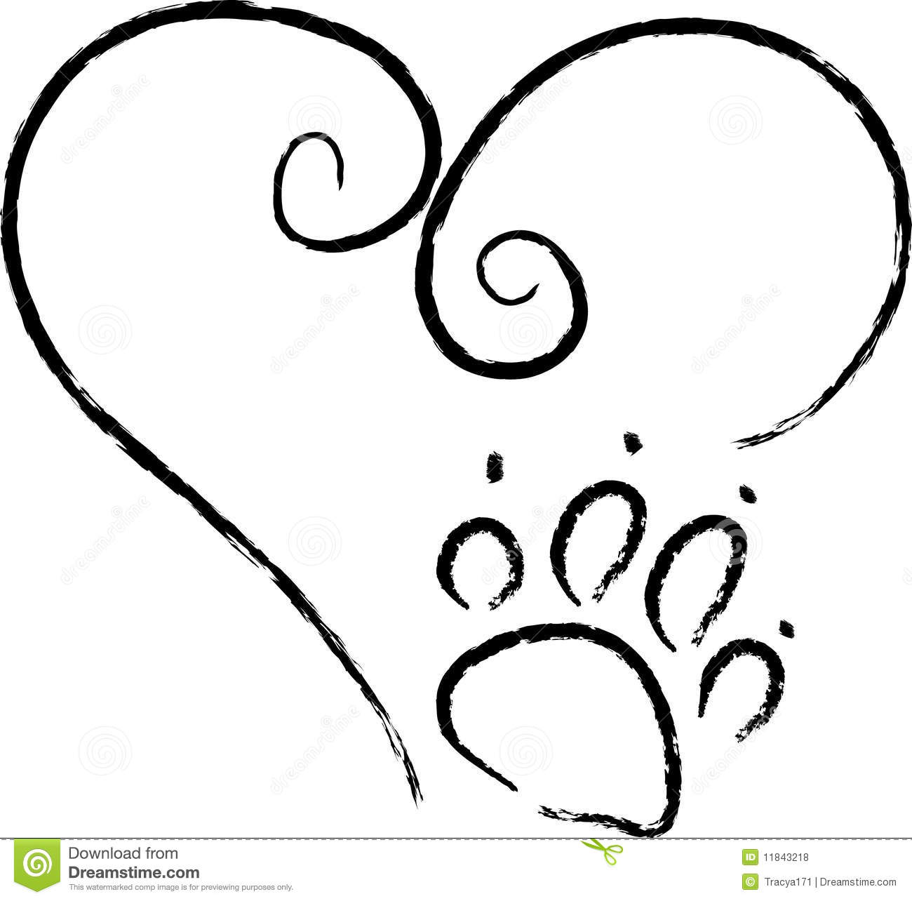 Free Coloring Pages Of Puppy Paw Prints