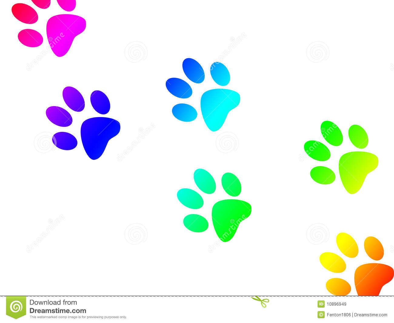 Paw Print Trail Royalty Free Stock Images - Image: 10896949