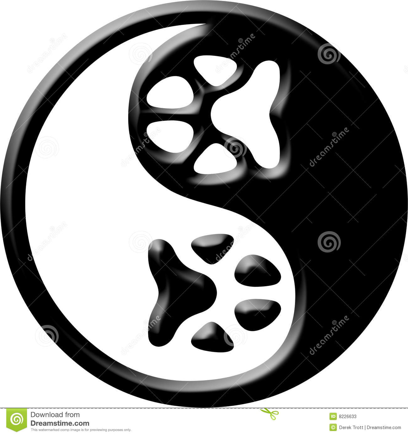 Paw Print Yin Yang Stock Illustration Illustration Of Buddhism