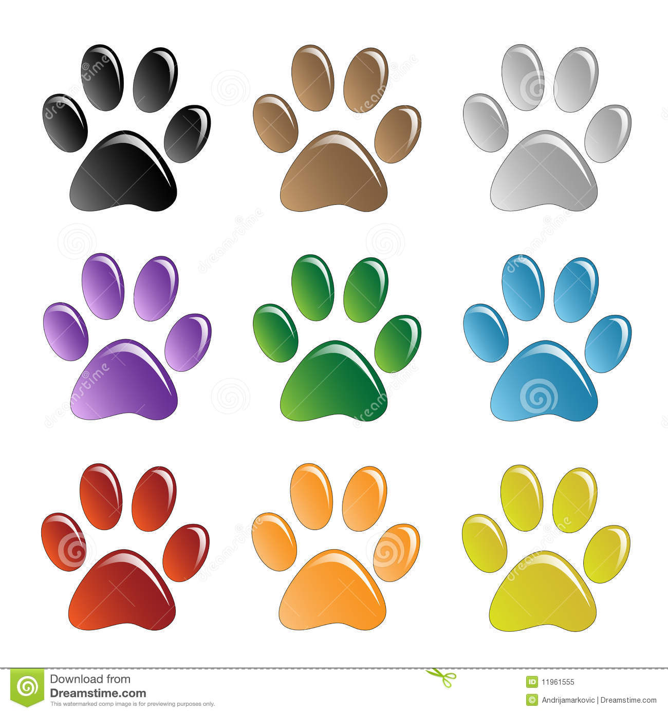 Paw Prints Royalty Free Stock Photo - Image: 11961555