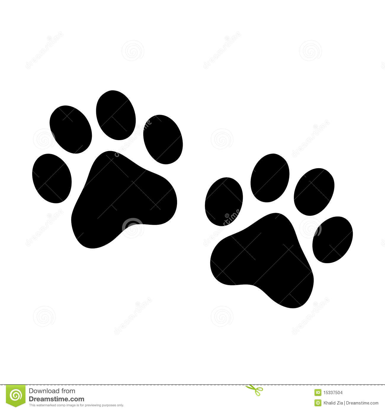Paw Prints Stock Images Image 15337504