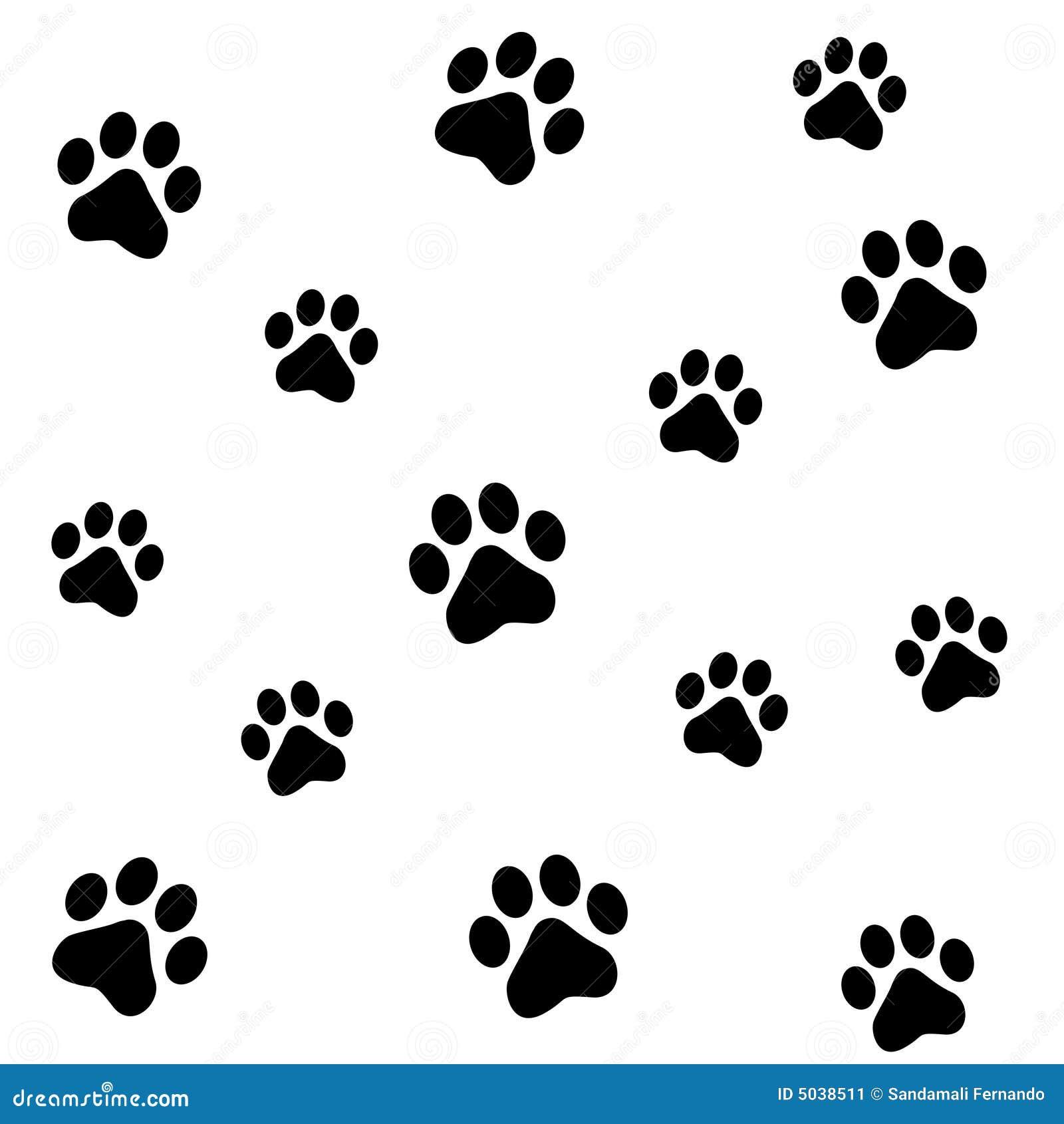 Paw Prints Stock Image Image 5038511