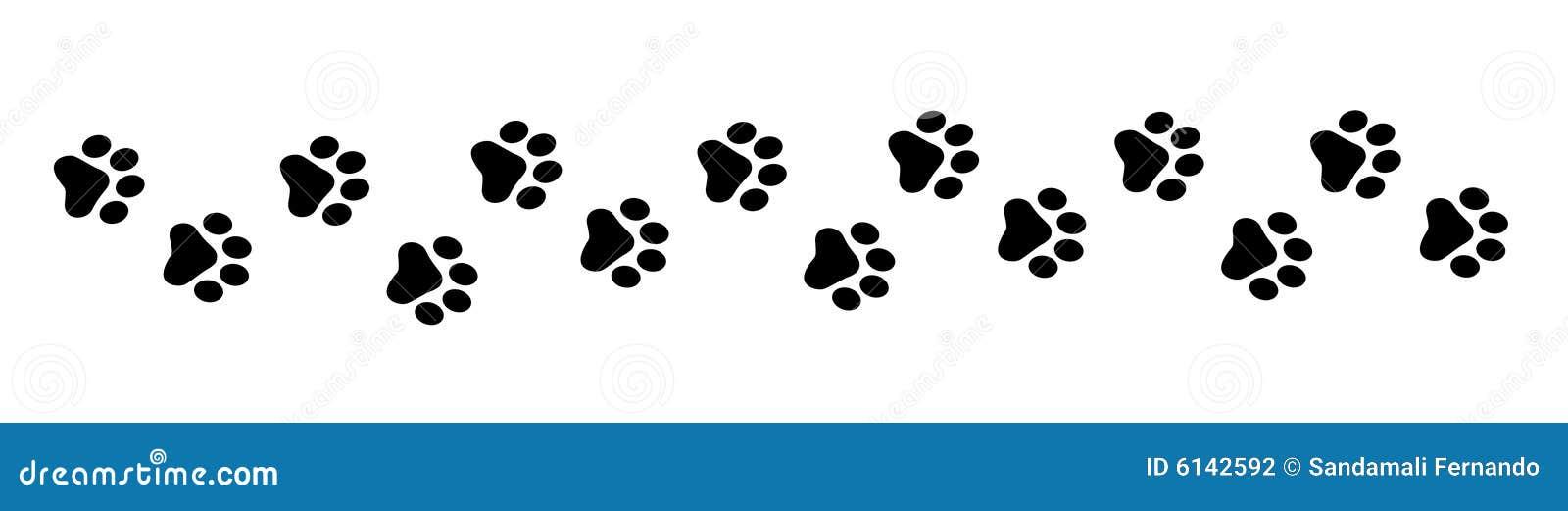 paw prints stock vector  image of graphic  icon  animal