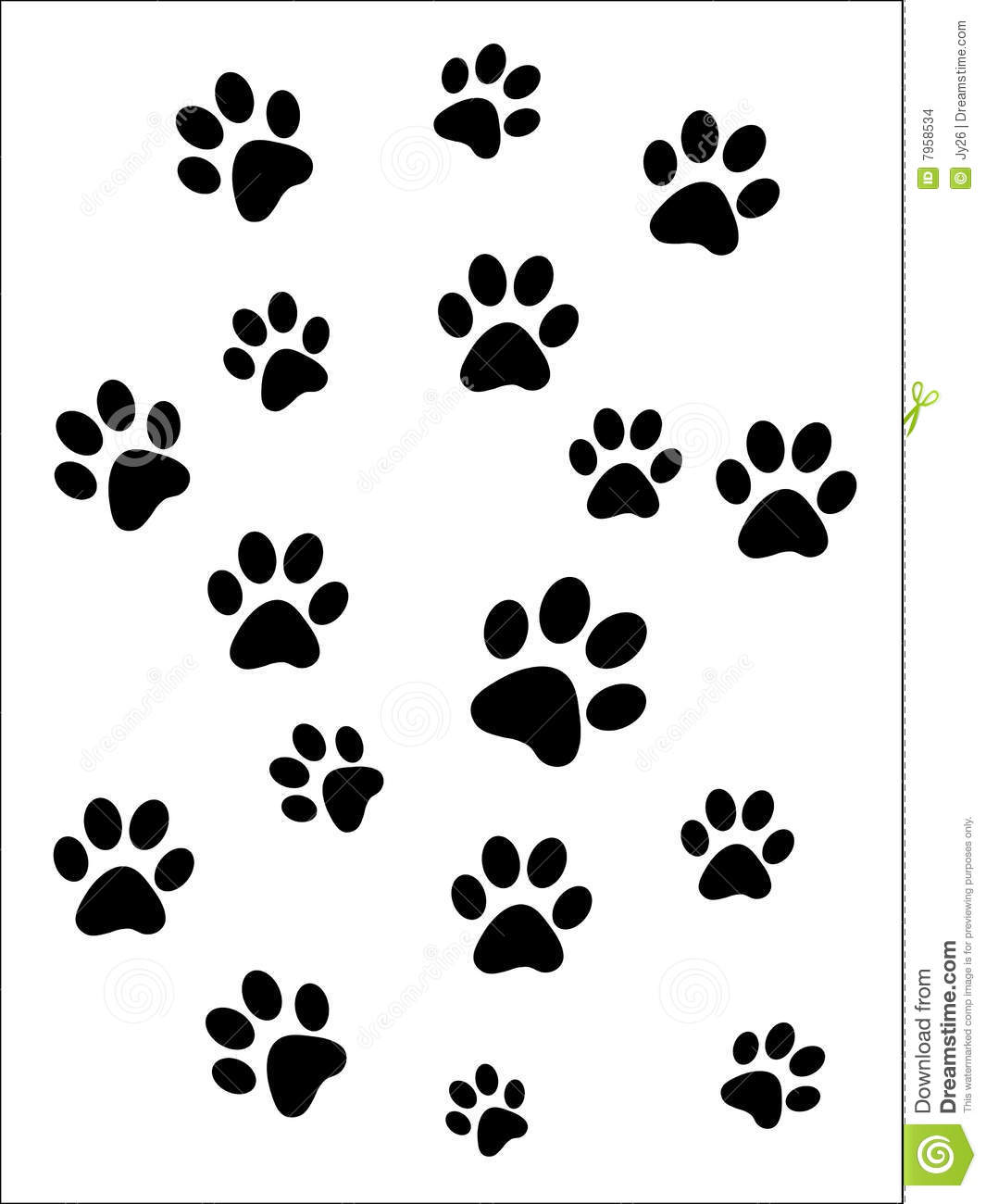 Paw Prints Stock Images - Image: 7958534