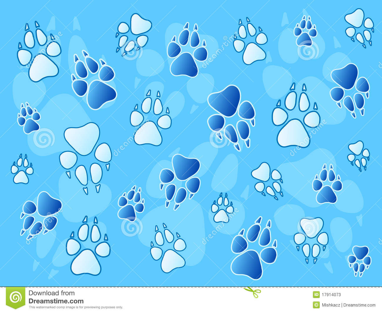 Paw Prints Background Stock Photos - Image: 17914073